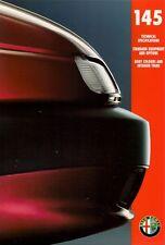 Alfa Romeo 145 Specification 1994-95 UK Market Foldout Brochure 1.6 1.6L 1.7 16v