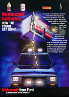 1987 Ford Ranger Motorcraft Classic Vintage Advertisement Ad H35
