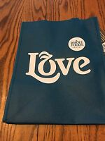 Whole Foods Reusable Bags Shopping Bag. Large Blue Love Bag.