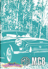 MGB OWNERS MANUAL 1973 1974 MG BOOK DRIVERS GUIDE HANDBOOK GT MGBGT ROADSTER B