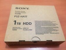 FACTORY SEALED Sony PSZ-HA1T 1TB Hard Drive USB 3.0 2 x Firewire 800 Triple