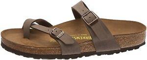 Birkenstock Women's Shoes Mayari Open Toe Casual Slide, Mocca Brown, Size 7.0 IE