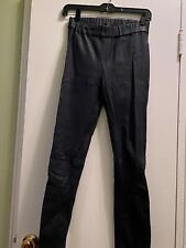 NWT Collection Leather Leggings $495 J.CREW Navy size 0