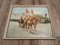 Terence Cuneo Print. Presentation of New Standard. Vintage Retro 1970's Picture