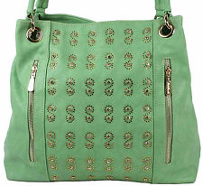 Giulia Pieralli Damenhandtasche Tasche Shopper in grün mit Strass