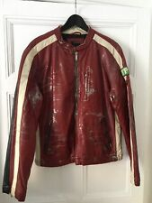 Energie Racer Red Jacket Distressed - Size Large - Excellent Condition