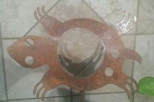 Turtle Rustic finish animal southwestern garden yard lawn art w/detachable stake