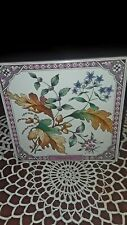 "Vintage Exclusive for Avon in England Tile Trivet"" Hospitality""  Floral 1983"