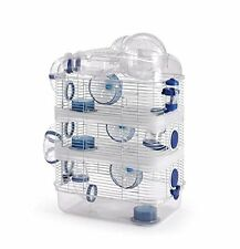 4 Level Sparkle Hamster Mice Mouse Cage with Large Top Exercise Ball Blue 222