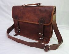 Real Leather Satchel Messenger Bag 13 In MacBook Briefcase Laptop Crossbody Bags
