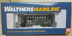 Southern Railroad 34' 100 Ton 2 bay Black Hopper 103420 Walthers 910-6931 RTR HO