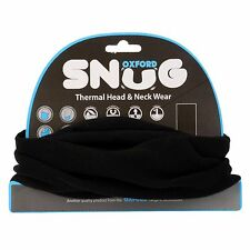 Oxford Snug Black Motorcycle Neck Scarf Tube Bandana Balaclava NW600 T