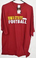 Iowa State Cyclones Football Red PreShrunk 100% Cotton T-Shirt  Size 3XL NWT