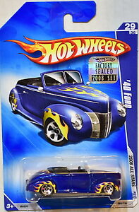 HOT WHEELS 2008 ALL STARS '40 FORD #29/36 BLUE FACTORY SEALED