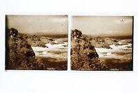 Corsica Mer Francia Foto Stereo L1n22 Placca Da Lente Vintage