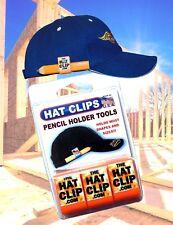 Pencil Holder Clips for Hat Cap Visor Carpenter Golfer Craftsman 3 PACK ORANGE