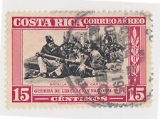 (CRA-324) 1950 Costa Rica 15c black & red Air battle of El Tejar, Cartago