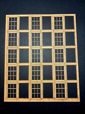Windows Sheets. Laser Cut Scratch Aid Layout Kit OO Gauge 4mm Model Railway IND1