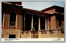 Shreveport Louisiana LA Shreve Memorial Library Postcard 1950s
