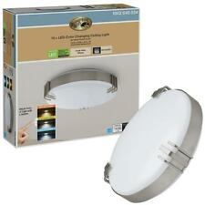 Hampton Bay Mission Industrial 15 in. Round Brushed Nickel LED Ceiling Light