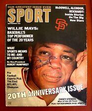 WILLIE MAYS San Francisco Giants Autographed Sport Magazine ~ September 1966
