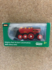 BRIO 33592 Mighty Red Action Locomotive Train Wooden Railway Battery Function
