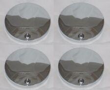 """4 CAP DEAL NEW CHROME WHEEL RIM 6-3/8"""" DIA NO LOGO CENTER CAP 991-0225 899068"""