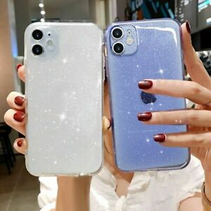 BLING GLITTER Gel Clear Soft Phone Cover Case For iPhone 11 XR X XS Pro Max 7 8