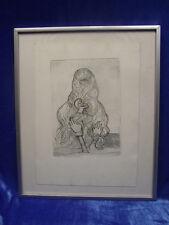 Marie Pospisilova: Surreales Frauenportrait , Radierung