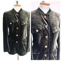 Vintage VTG 70s 1970s Habsberg Austrian Green Velvet Jacket Blazer
