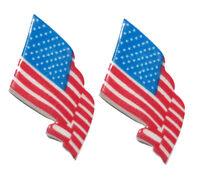 PATRIOTIC AMERICAN FLAG STUD OR CLIP ON EARRINGS (S570)