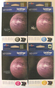 Brother LC 1220 / LC1220 Genuine Black, Cyan, Magenta, Yellow Set. New / Sealed.