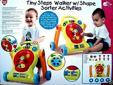 PLAYGO BABY & TODDLER,TINY STEPS 2 IN 1 ACTIVITY WALKER & PLAY SET,KIDS 1+, NEW