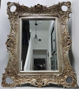 Antique French Style Champagne Gold Large Mirror Shabby Chic Elegance Ornate