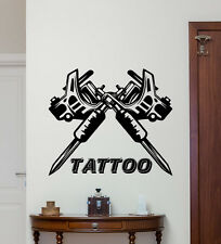 Tattoo Machine Wall Decal Studio Salon Poster Vinyl Sticker Decor Mural 83bar