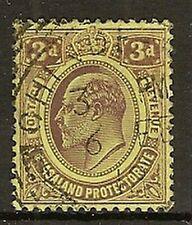 NYASALAND INVERTED WMK 1908 KEVII 3d  SG75w FINE USED