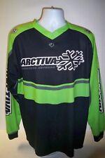 Arctiva Moose padded Snowear Shirt Green/Black Large Motorcross C-15