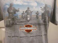 Vtg Harley Davidson T Shirt, 1998, So Many Miles So Little Time Embroidered Logo