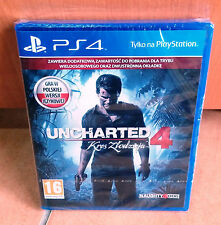 Uncharted 4 Kres Zlodzieja A Thief's End NEW&SEALED PS4 BOX NEU OVP