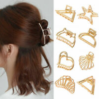 Women Metal Geometric Hair Claw Hair Holder Claw Hollow Hair Clips Hair Crab New