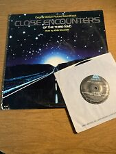 Close Encounters Of The Third Kind Soundtrack Vinyl Lp Record + 7� Soundtrack