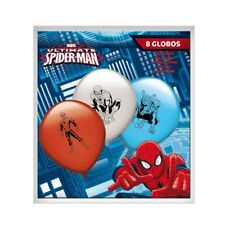 PALLONCINI SPIDERMAN ORIGINAL MARVEL 8 Pz 30 cm FESTA PARTY Top Quality	 PALLONC