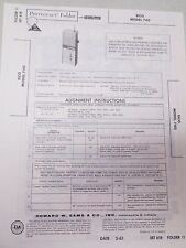 Sams Photofact Folder Radio Parts Manual EICO 740 Transistor Citizens Band