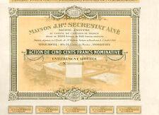 Dépt 33 Bordeaux 40 à 56 Cours du Médoc - Top Déco Distillerie Secrestat de 1918