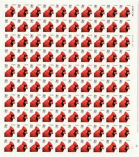 Cardinal Bird Sheet of One Hundred 30 Cent Postage Stamps Scott 2480