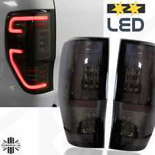 v3 LED Light Smoked Tinted Rear lights for Ford Ranger 2012  tail lamp WILDTRAK