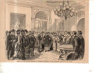 1878 Leslie's August 17 original print only - Chinese embassy received at hotel