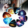 10Pcs Acoustic Electric Guitar Bass Ukulele Picks Plectrum 0.46mm/0.71mm/0.96mm
