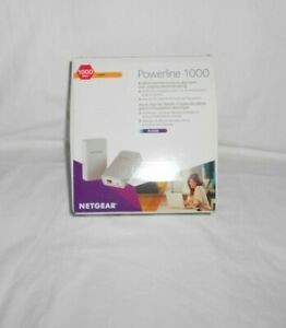 NETGEAR Powerline 1000 (PL1000)V2 Extender Smart TV HD internet  open box