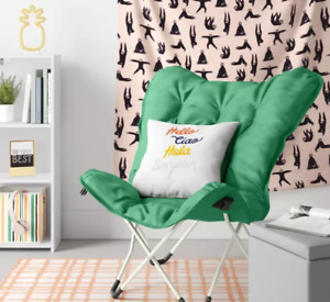 Over-sized Butterfly Chair Seat Stool Saucer Soft Folding Living Room Green